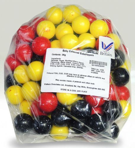 T07 BABY COLOURED GOBSTOPPERS (30G)